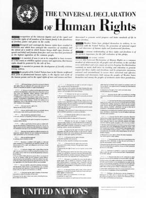 Naslovnica Splošne deklaracije človekovih pravic s preambulo (Vir: UN Photo)