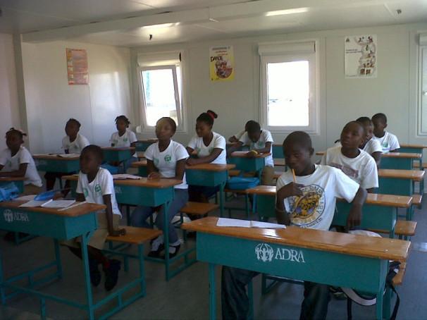 Pouk v slovenski šoli na Haitiju (Vir: IRD Slovenija)