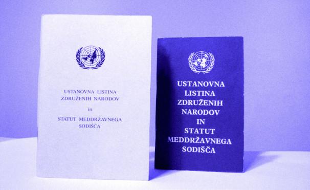 Ustanovna listina OZN (Vir: Simon Konobelj)